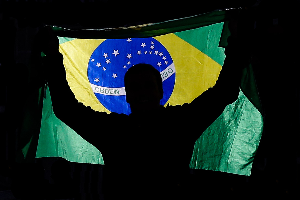 Olympia Rio 2016, Fan with the Brazilian Flag