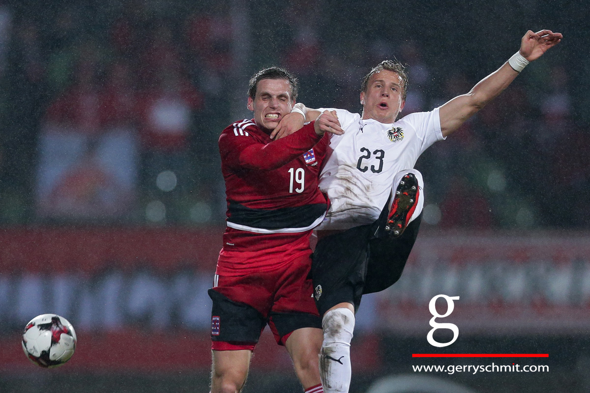 Duel between Mathias Jänisch (Luxembourg) and Moritz Bauer (Austria)